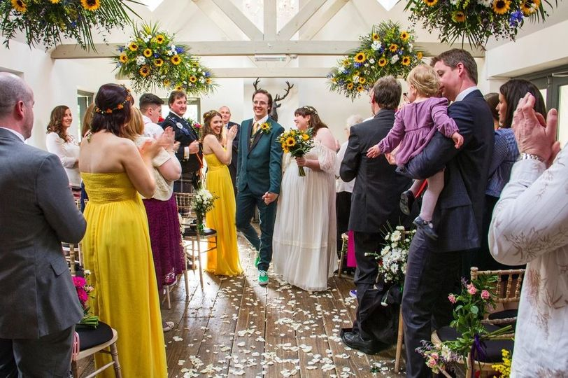 Delight for the newlyweds (Photographers Tom Heath Photography)