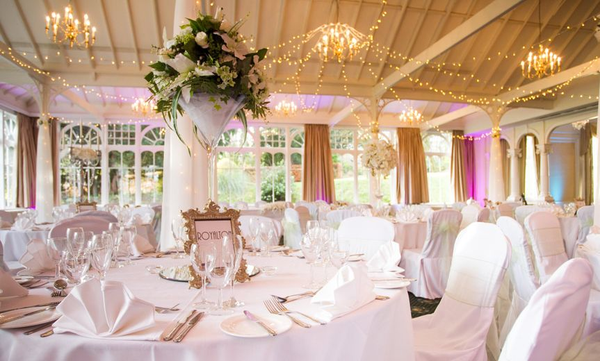 Garden Room with Fairy Light Canopy