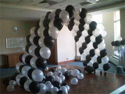 Balloon arch over dance floor