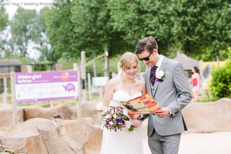Bride and Groom in the Zoo