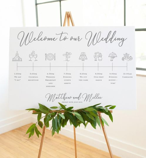 Elegance order of the day sign