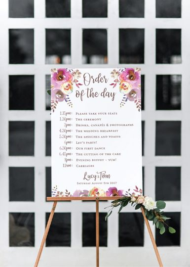 Order of the day sign 'Lucy'