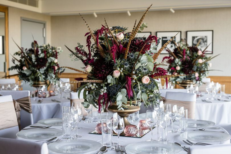 Pheasant Feather table display