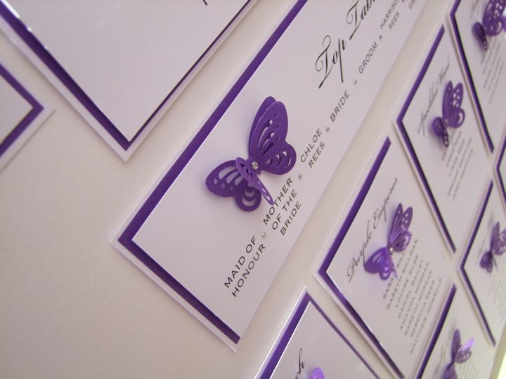 Diamante butterfly table plan