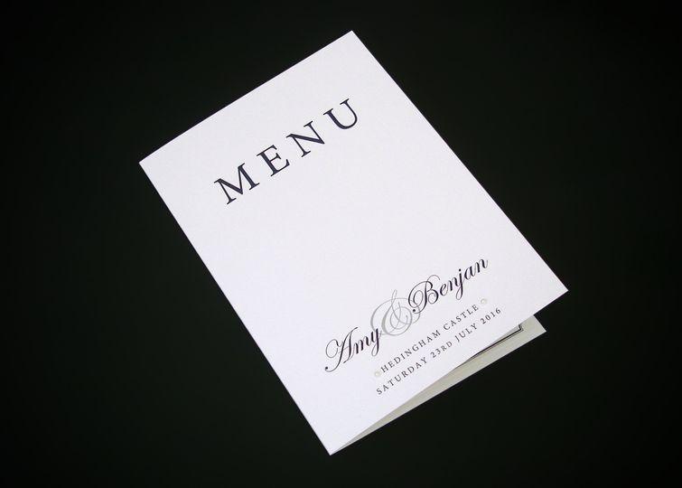 Signature Menu Booklet