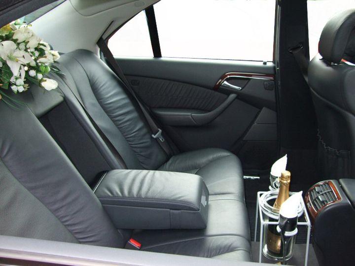 Moet champagne in car