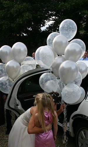 Bridesmaids and balloons