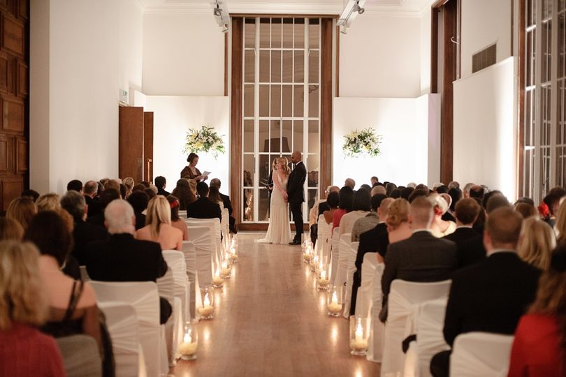 Wedding Ceremony in the Gallery