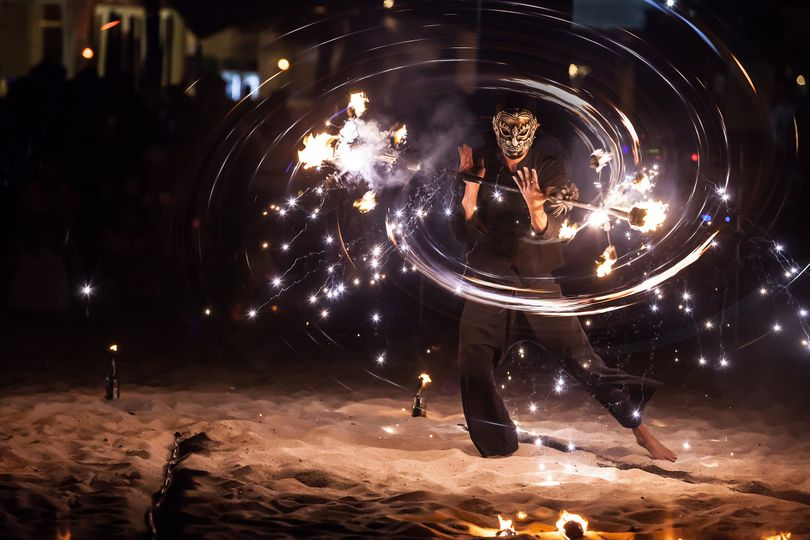 Fire show to entertain