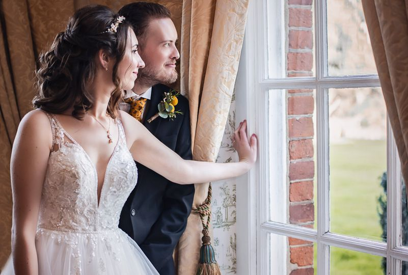 Looking out the window - M&N Wedding
