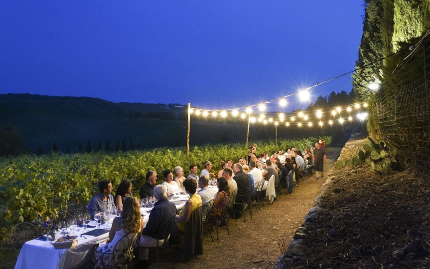 Tuscany wedding dinner