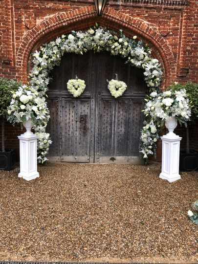 Archway and pedestals