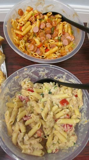 Cold pasta bowls