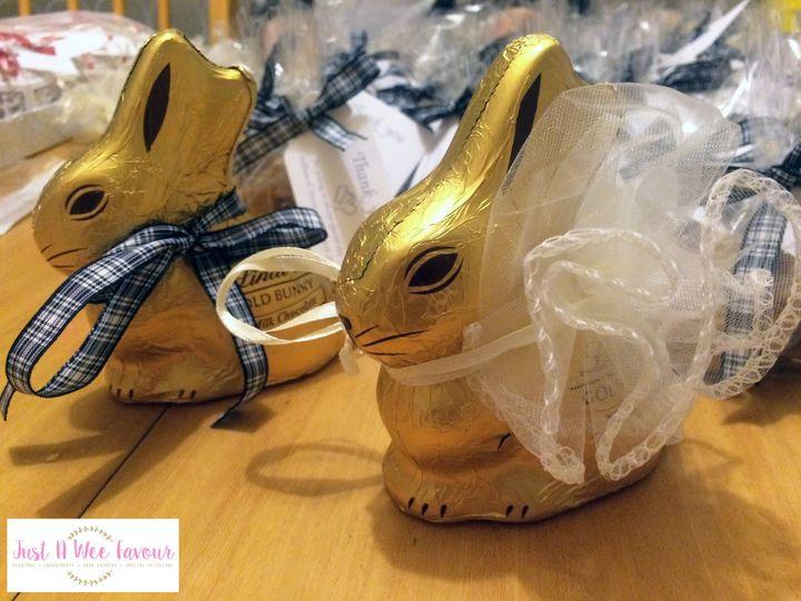 Easter wedding bunnies