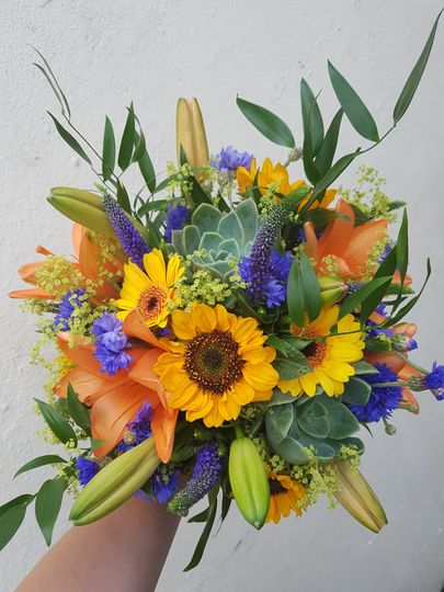 Bright and beautiful bouquet