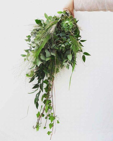Foliage and succulent boquet