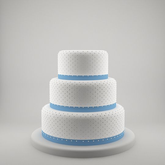 Three tier pearls with blue ribbons