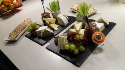 Local cheeses and produce