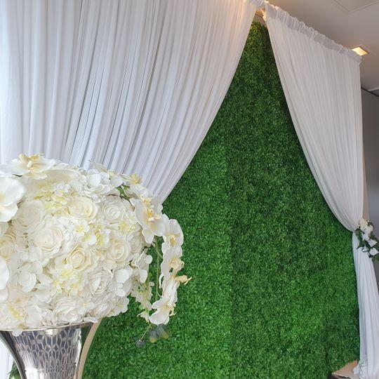 Foliage walls and draping