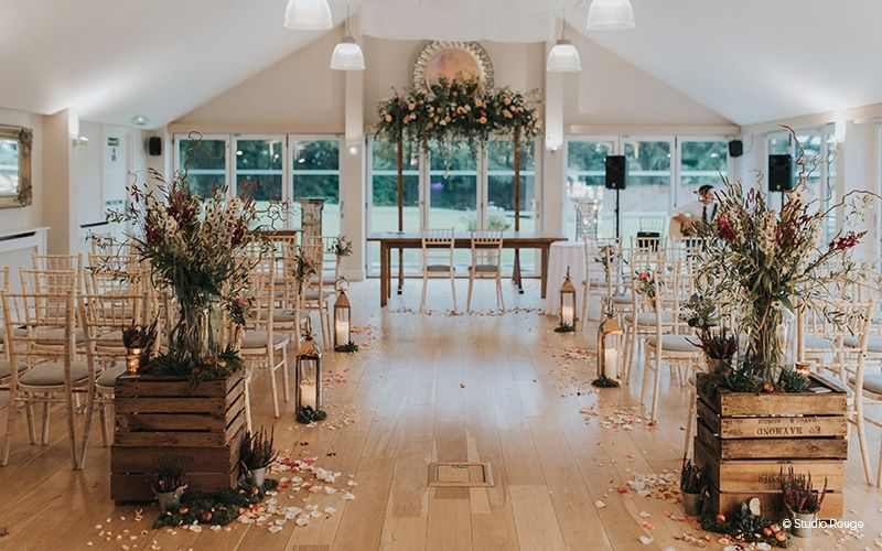 Garden Room Ceremony at Wasing Park