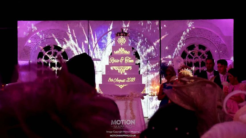 Decorative Hire Motion Mapping - Wedding Projection Mapping and VJ 2