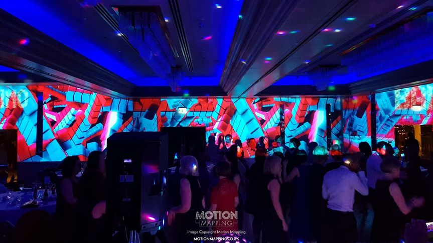Decorative Hire Motion Mapping - Wedding Projection Mapping and VJ 4
