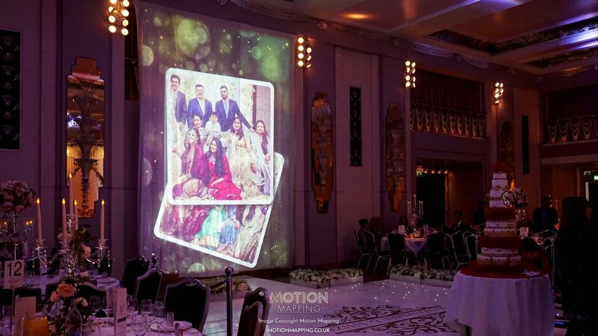 Decorative Hire Motion Mapping - Wedding Projection Mapping and VJ 12