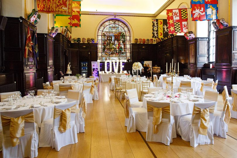 Hall with round tables
