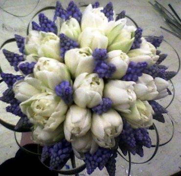 Tulip and Muscari bouquet
