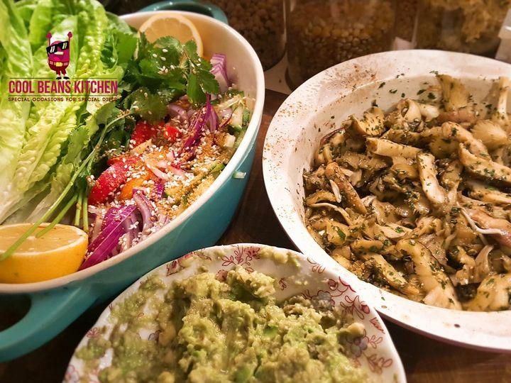Raw Coriander & Garlic Mushroo