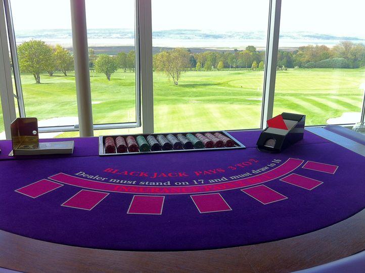 Full size blackjack table