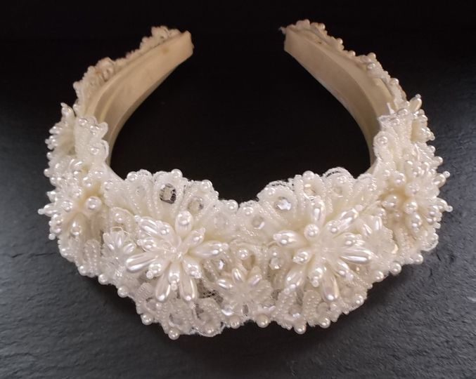 beaded wedding cream hair band with beads and pearls ava 4 136622