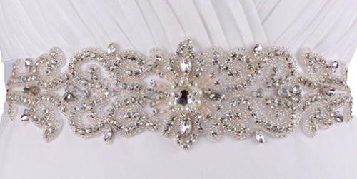 Rhinestone Wedding Dresss Sash