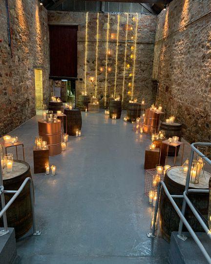 Candle lit entrance