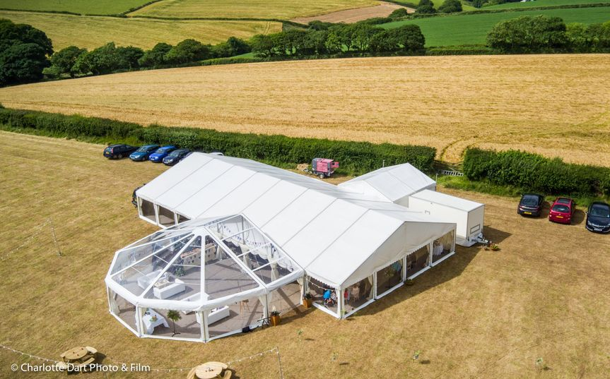 Marquee with Clear Roof Bubble