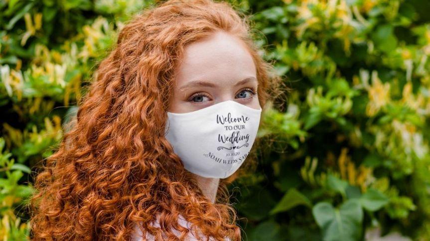 Wedding welcome mask