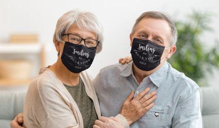 Personalised Wedding Masks 1
