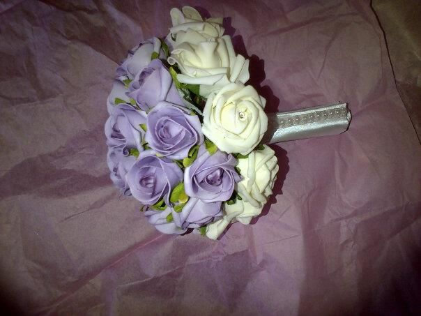 Lilac and ivory