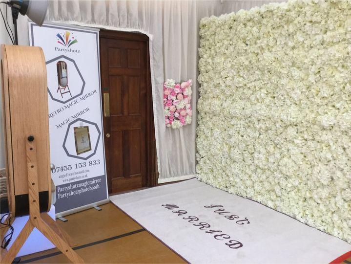 Cream-floral backdrop