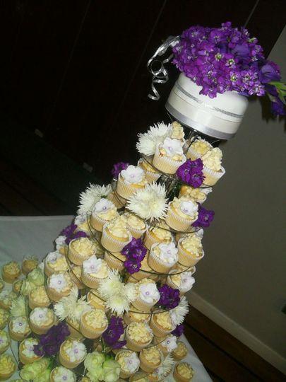 Cadbury purple Cupcake tower