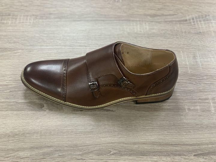 Brown monk shoe