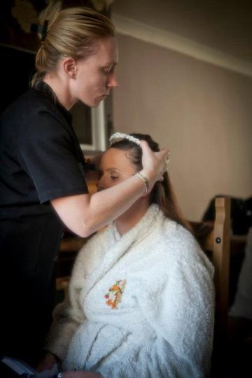 Bridal hair and make up