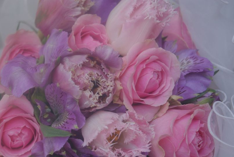 Roses, tulips and freesias