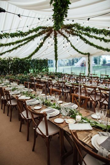 Wedding decor in Marquee
