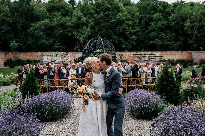 Wedding ceremony in Walled Garden