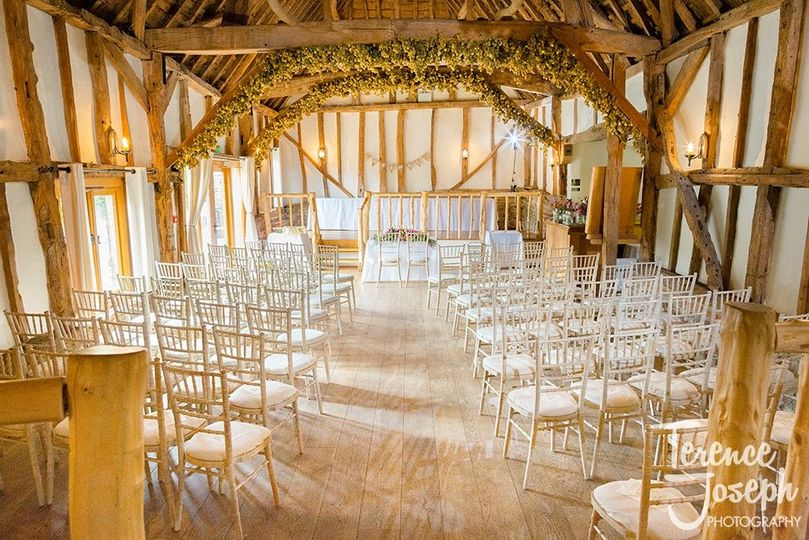 Chiavari chairs - ready for a Ceremony 2