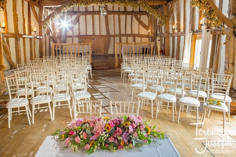 Chiavari chairs - ready for a Ceremony