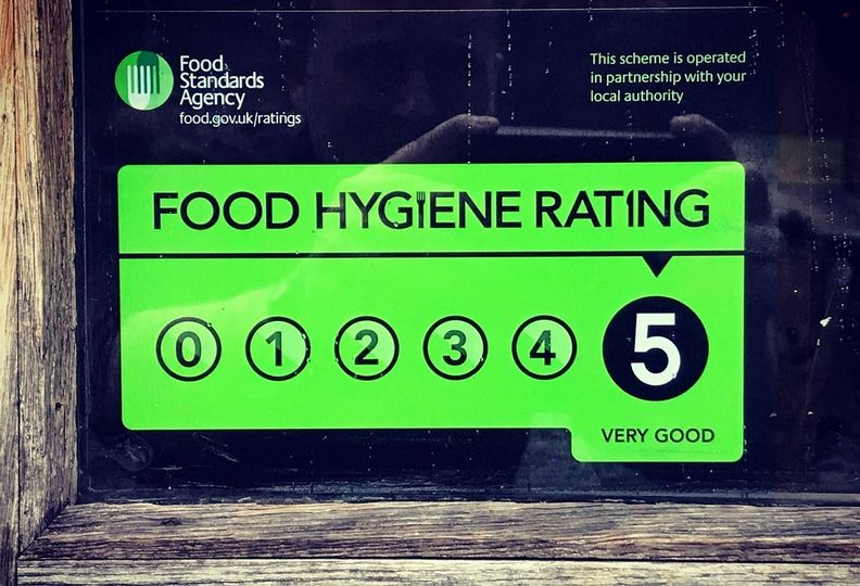 Our food hygiene rating!