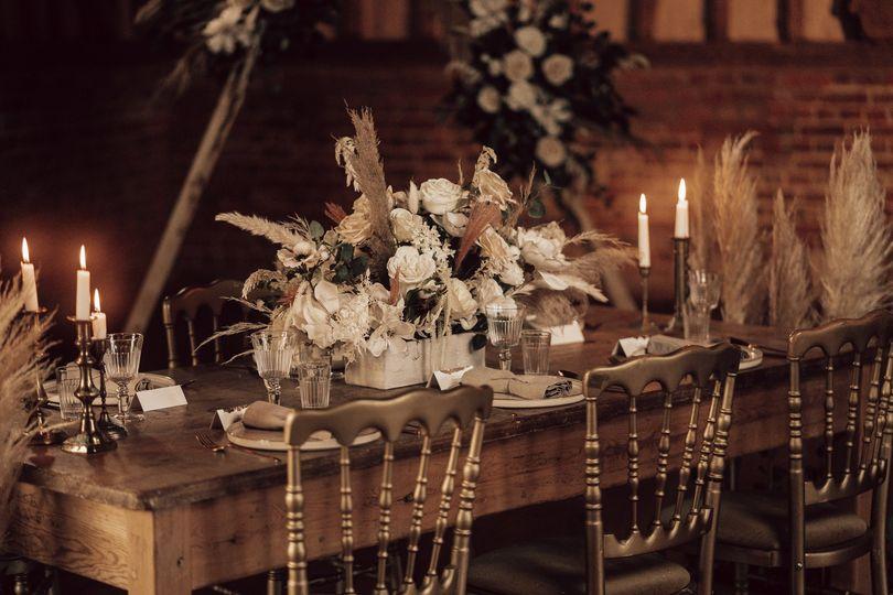 Boho style wedding dinner