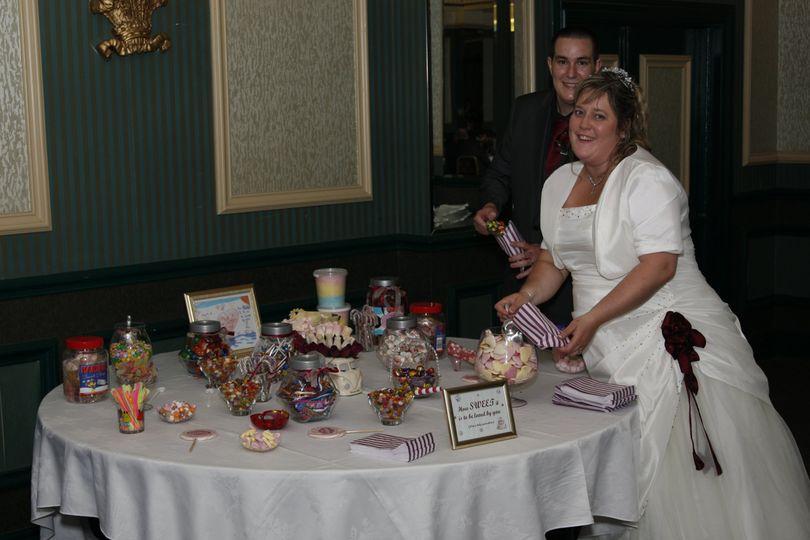 Wedding candy buffet